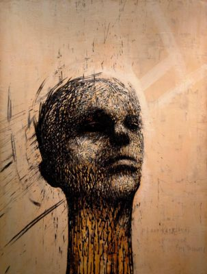 RON EADY Kane, 2012, Encaustic on panel, 50 x 38 inches, 127 x 97 cm