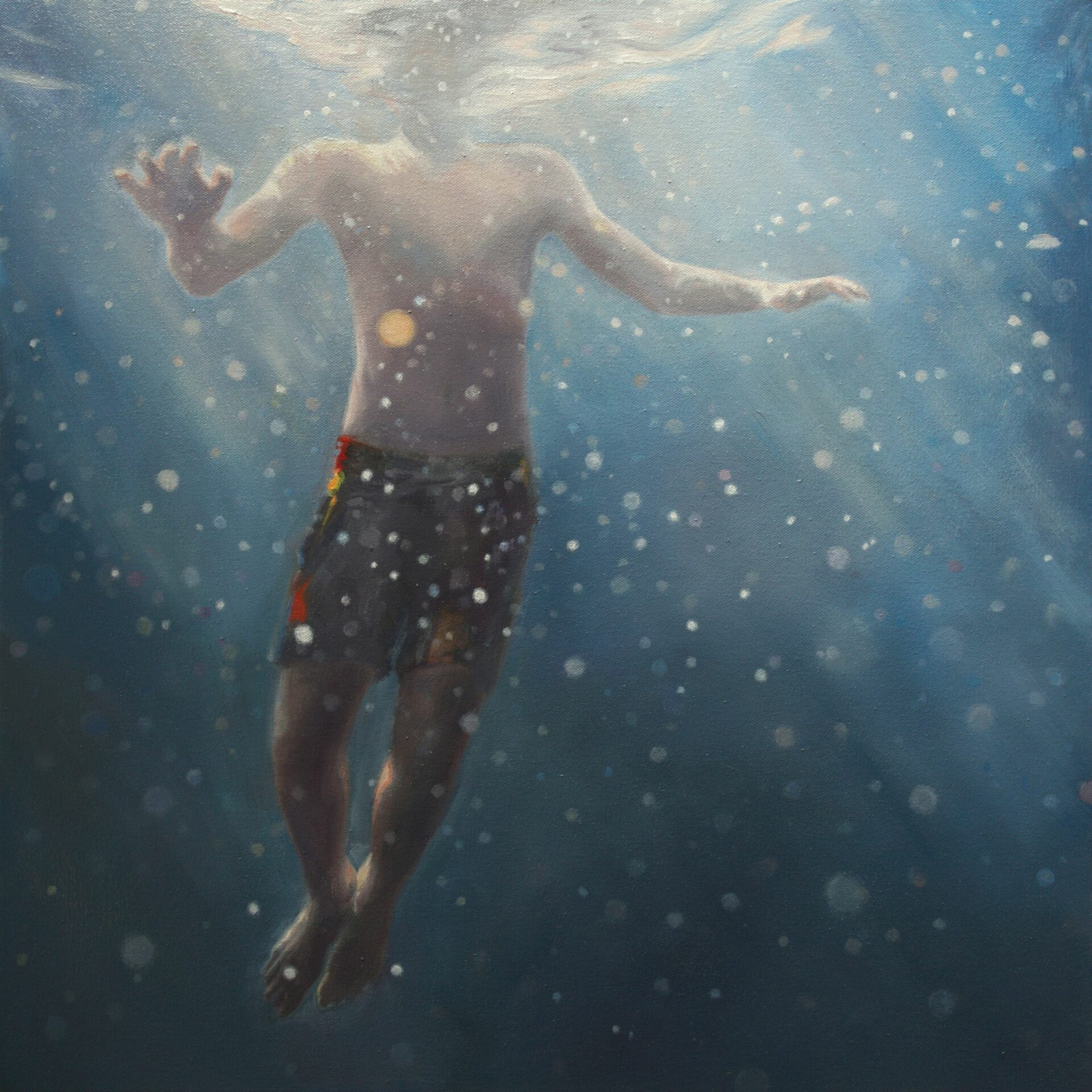 JENNIFER WALTON Haze, 2017, Oil on canvas, 19 x 19 inches, 48 x 48 cm